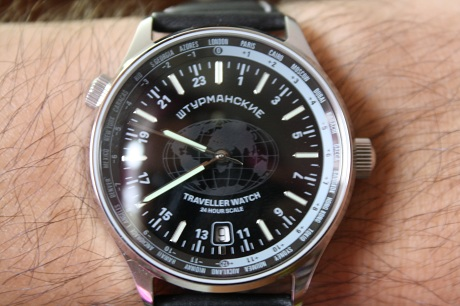 Sturmanskie Traveller Watch 24 Hour Scale 10